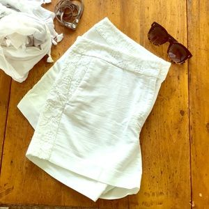 LOFT white lace detail shorts size 16